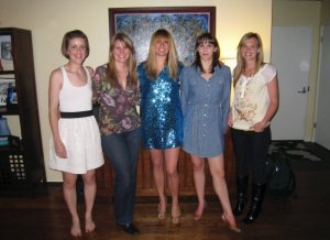 Can you find the blue sequined dress?