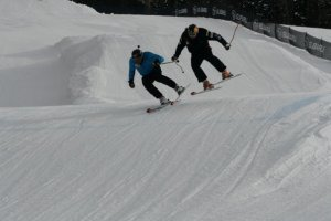 Preview of Feb. 2010: Daron and Casey battle it out on the slopes.